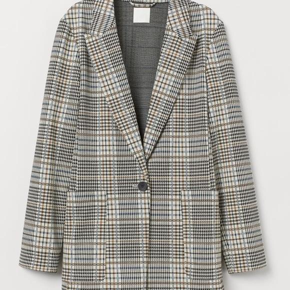 H&M- Straight-cut jacket sturdy jersey oversized
